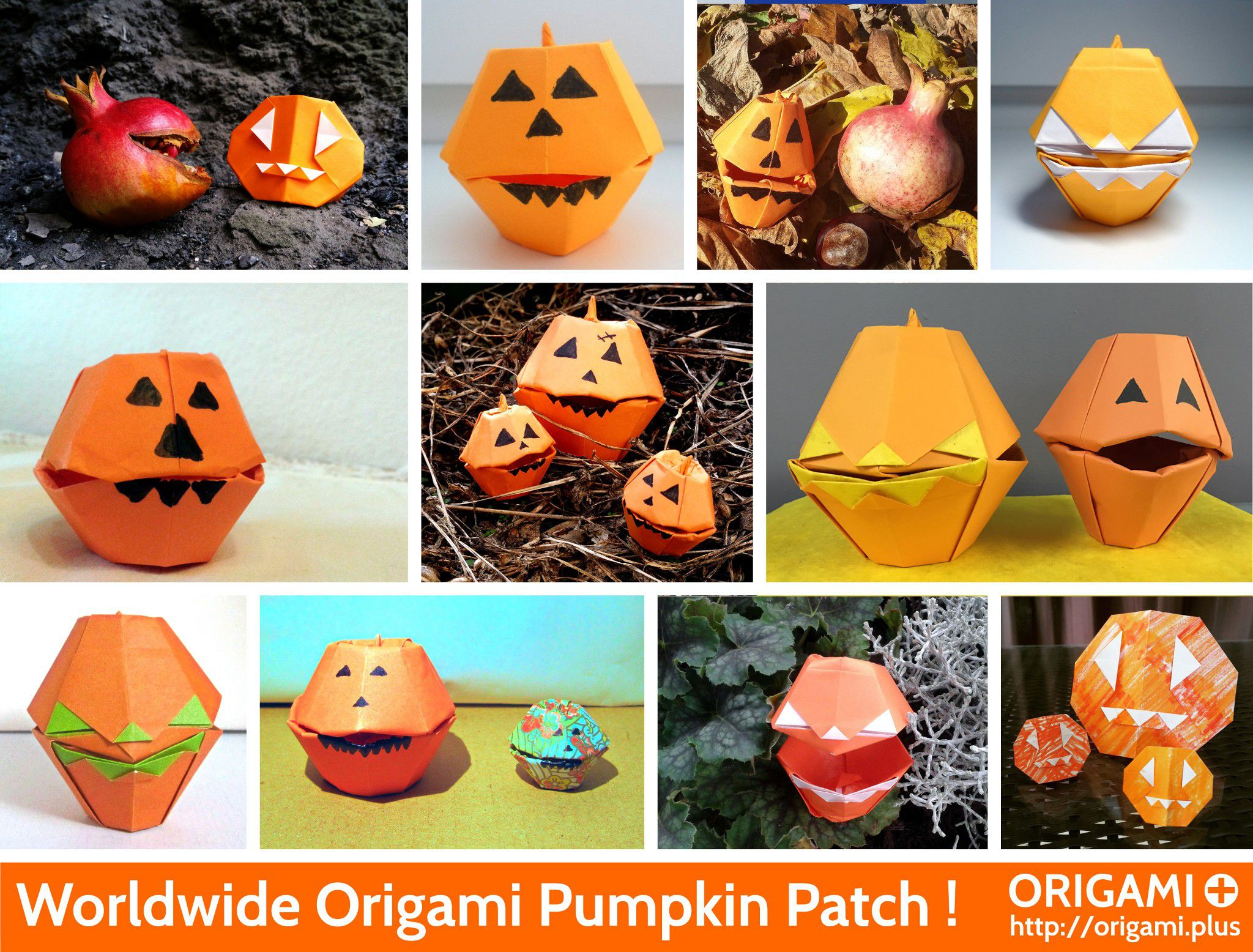 Origami Pumpkin Patch